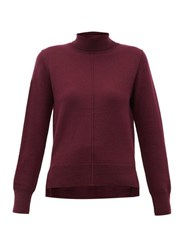 Sea Nora Roll Neck Wool Sweater Burgundy