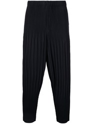 Homme Plisse Issey Miyake Pleated Trousers Men Polyester 2 Black