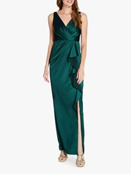 Adrianna Papell Draped Maxi Gown Forest