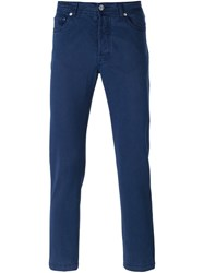 Kiton Slim Fit Jeans Blue
