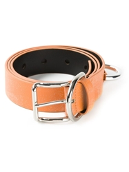 Acne Studios Speckled Belt Yellow And Orange