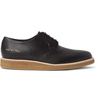 Common Projects Perforated Leather Derby Shoes Black