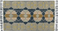 Cb2 Hand Knotted Stained Glass Rug 5'X8'.