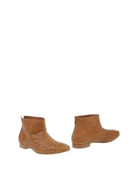 Fabi Ankle Boots Camel