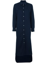 Maison Martin Margiela Mm6 Maxi Shirt Dress Blue