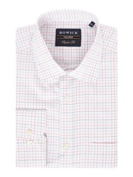 Howick Men's Tailored Greenway Miniature Check Shirt Pink