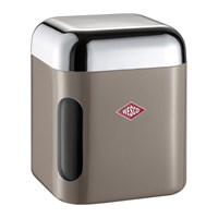 Wesco Square Canister With Window Warm Grey