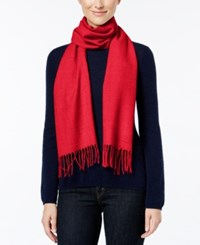 Calvin Klein Solid Woven Scarf Rouge