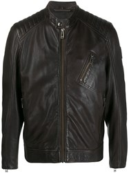 Belstaff Leather Short Jacket 60