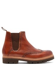 Grenson Arlo Leather Chelsea Boots Brown