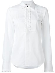 Dsquared2 Frilled Tuxedo Shirt White