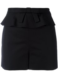 Red Valentino Bow Detail Frilled Shorts Black
