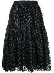 Jourden Full Midi Skirt Black