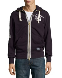 Superdry Pommel Zip Front Hooded Sweatshirt Moody Navy