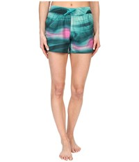 The North Face Printed Class V Shorts Teal Blue Water Swirl Print Women's Shorts Green