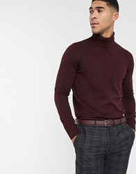 Rudie Roll Neck Jumper Red