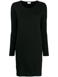Allude Colour Block Knitted Dress Black