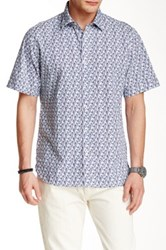 Toscano Short Sleeve Woven Shirt Blue