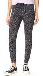 Sundry Leopard Skinny Sweatpants Heather Charcoal