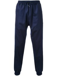 Kent And Curwen Ankle Length Track Pants Blue