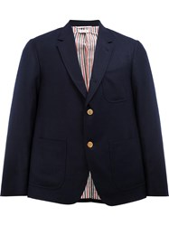 Thom Browne Loose Fit Blazer Blue