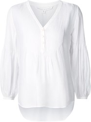 Veronica Beard 'Pierce Pintuck Boho' Blouse White