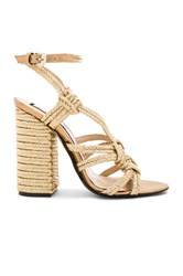 N 21 Woven Strappy Heel Metallic Gold