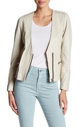 Doma Capri Powder Genuine Leather Jacket Beige
