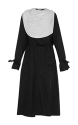 J.W.Anderson Trench Coat With Draped Collar Black