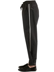 Damir Doma 25Cm Cotton And Linen Pants Black