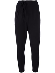 Thom Krom Drop Crotch Wrap Trousers Black