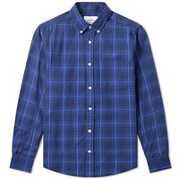 Portuguese Flannel Button Down Oxnard Check Shirt Blue