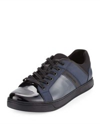 Kenneth Cole Swag Gy Patent Low Top Sneaker Black
