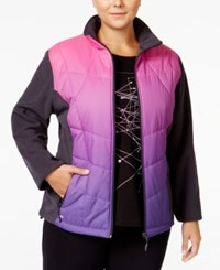 Ideology Plus Size Ombre Jacket Only At Macy's Pink Purple