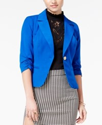 Xoxo Juniors' Ruched Sleeve Blazer Cobalt