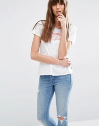 Levi's Perfect T Shirt With Batwing Logo White