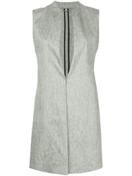 Des Pres Sleeveless Jacket Grey