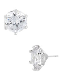 Robert Lee Morris Silver Plated Crystal Stud Earrings