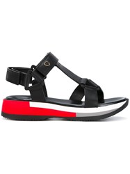 Philippe Model T Strap Platform Sandals Women Calf Leather Leather Rubber 35 Black