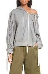 Public School 'S Ashlei Cotton Hoodie Melange Grey