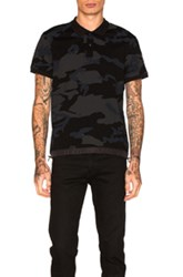 Moncler Polo In Black Abstract Black Abstract