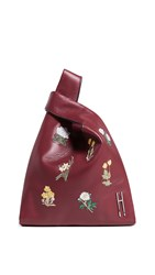 Hayward Floral Bouquet Mini Shopper Tote Burgundy