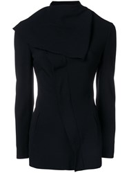 Jean Paul Gaultier Vintage Diagonal Zip Jacket Black