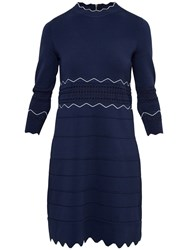 Ted Baker Coletie Scallop Edge Tunic Navy