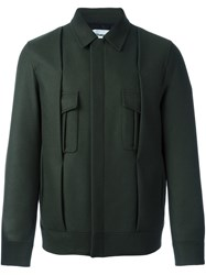 Chalayan Pleated Jacket Green