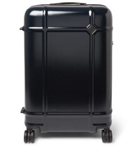 Fabbrica Pelletterie Milano Globe Spinner 68Cm Leather Trimmed Polycarbonate Suitcase Navy