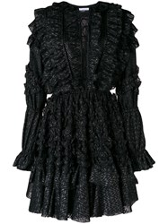 Faith Connexion Ruffled Dress Black
