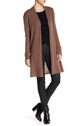 In Cashmere Long Cardigan Brown