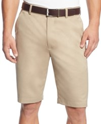 Greg Norman For Tasso Elba Men's Big And Tall Microfiber Shorts Washed Khaki