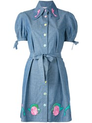 Olympia Le Tan Masters Mistress Shirt Dress Blue